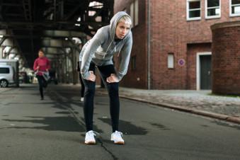 Women Running in a City