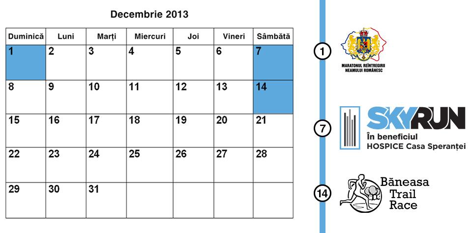 Calendar competitii alergare decembrie 2013