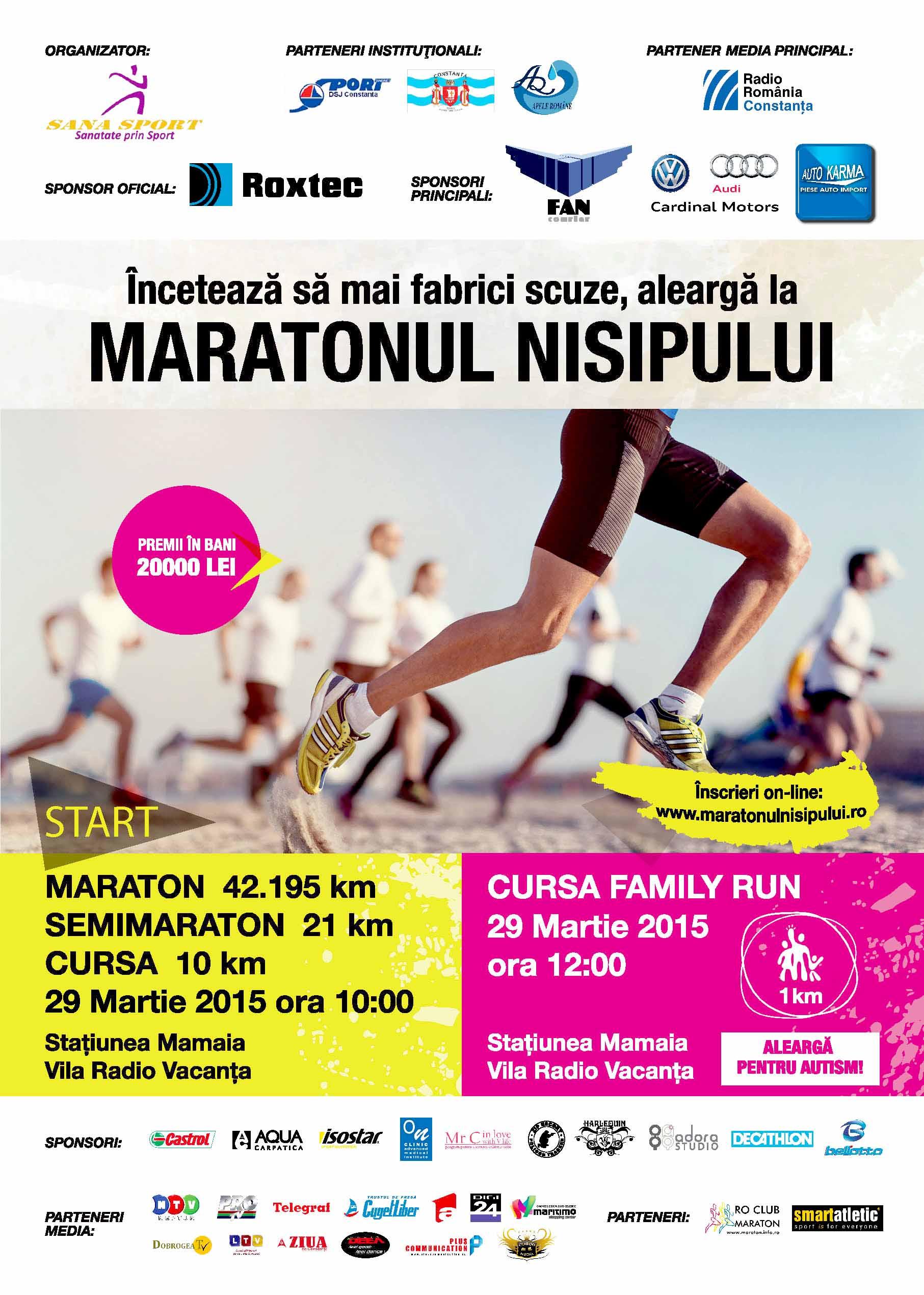 Afis Maratonul Nisipului 2015 facebook